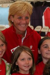 Head Women's Basketball Coach Lisa Stone at Badger Days in Eau Claire