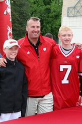 Head Football Coach Bret Bielema at the 2008 Badger Days in Eau Claire