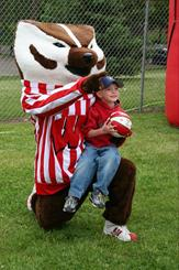 Bucky Badger at Badger Days in Eau Claire