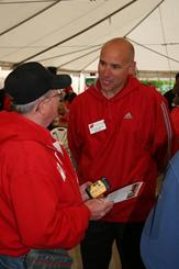 Head Men's Tennis Coach Greg Van Emburgh at Badger Days in Eau Claire
