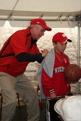 Head Men's Basketball Coach Bo Ryan at Badger Days in Eau Claire