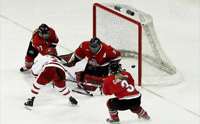 Women's hockey WCHA first round playoffs vs. Ohio State