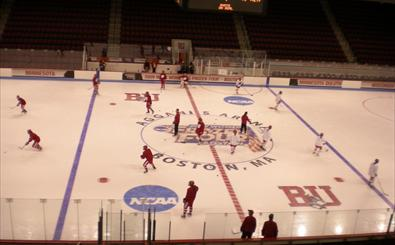 Badgers hit Agganis ice for first time